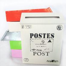 Forme a Vendimia Rústico Hierro-mail Buzón Multicolor Leche Buzones Cajas de Periódicos Diarios Del Hogar(China (Mainland))