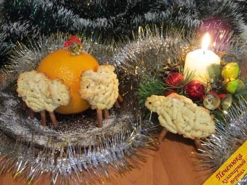 Печенье Овечки на Новый год 2015 (пошаговый рецепт с фото) — Кулинарный портал Печенюка