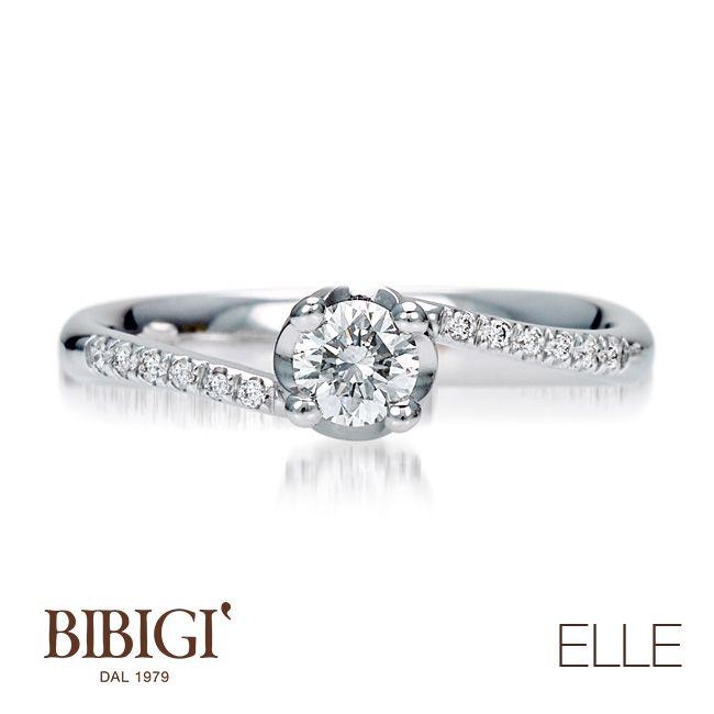 #Bibigi | Collezione #Elle | Anello in oro bianco e diamanti.