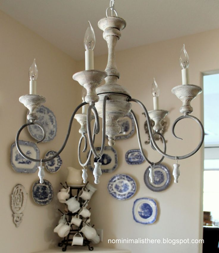 No Minimalist Here Chandelier Before And After Using Liming Wax Making Drops From