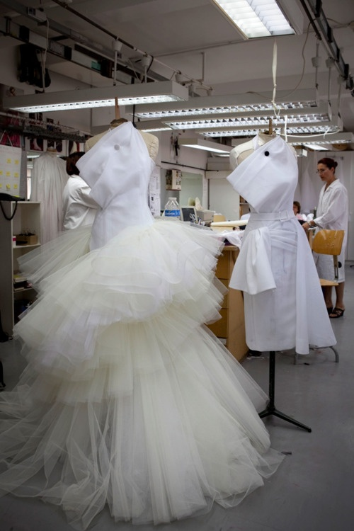 look inside the atelier for Christian Dior