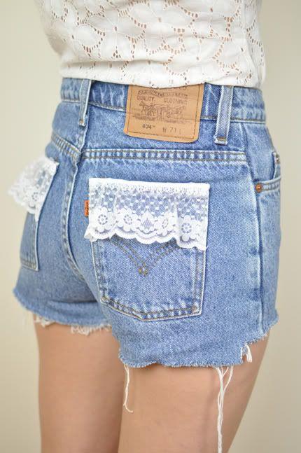 DIY lace + denim