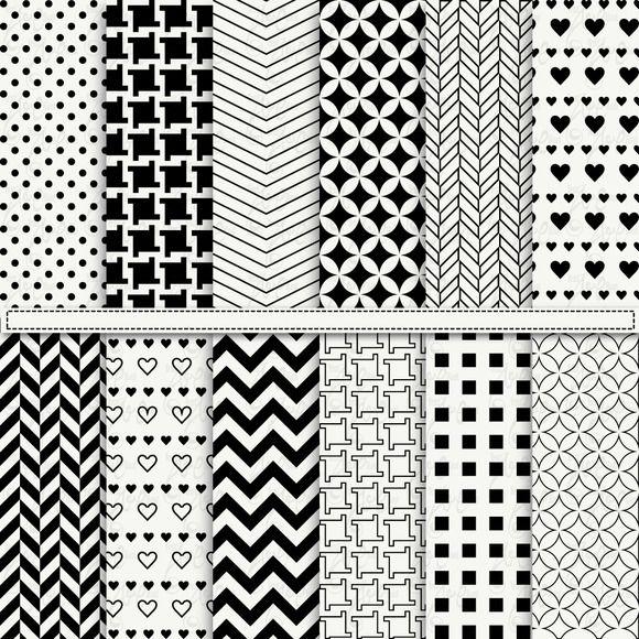 Check out Black & White Digital Paper by YenzArtHaut on Creative Market