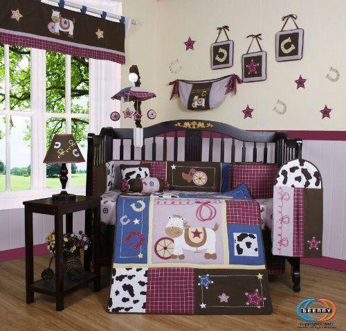 Boutique Horse Western Cowgirl 13PCS CRIB BEDDING SET by GEENNY, http://www.amazon.com/dp/B004DRDZH6/ref=cm_sw_r_pi_dp_FOzpqb1QBGCTC: Except, Crib Bedding Sets, Westerns Cowgirl, Shops, Baby Girls, Cribs Beds Sets, Baby Rooms, 13 Pieces, Baby Stuff