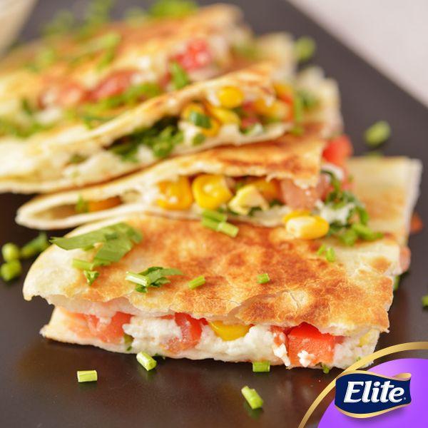 ¡Prepara un quesadilla vegetariana y disfruta con tu familia!