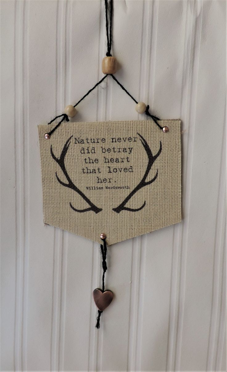 Small burlap banners/printed burlap banner/wall hanging/rustic home or office decor/woodland decor/inspirational quotes/handmade burlap sign by BirdOnABarbedWire on Etsy