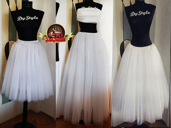 5 Layers Soft Tulle Long Bride Skirt Bridesmaid Plus Size