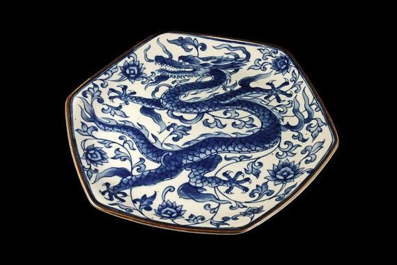Dragon Plate Toscany Collection Seiryu by MountainAireVintage