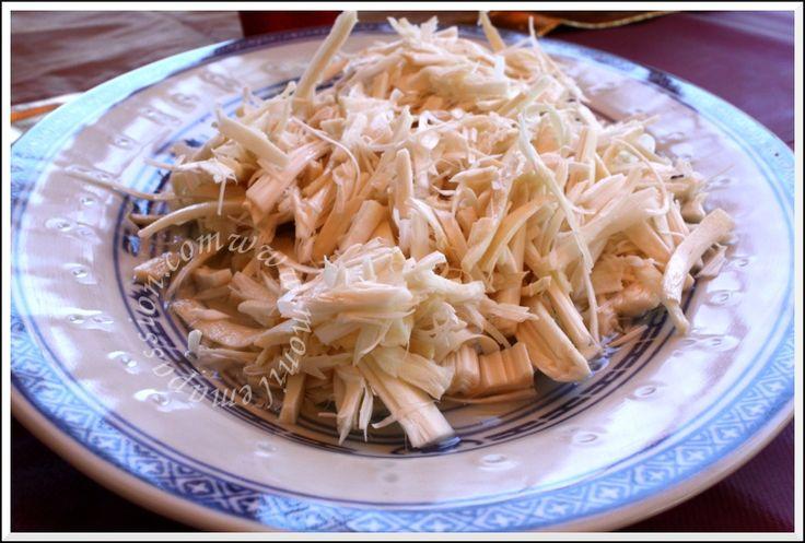 Fresh heart of palm salad salade de coeur de palmier frais palmiste recette r unionnaise - Cabri massale cuisine reunionnaise ...