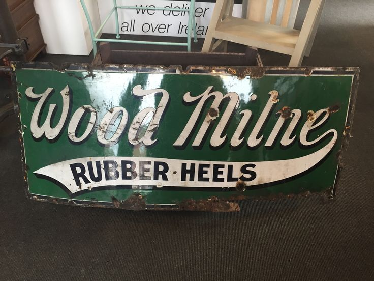 An Antique Porcelain 'Wood Milne' Sign €160 #sign #advertising #antique #rugstorhinos Call and secure over the phone: 01-4966851 or on http://www.rugstorhinos.com/