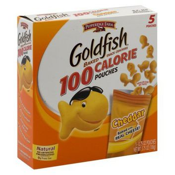 I'm learning all about Pepperidge Farm Goldfish Cheddar Baked Snack Crackers 100 Calorie 5 pk at @Influenster!