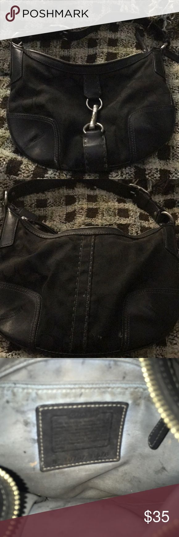 Black Coach purse Black Coach purse. Used but in good condition Coach Bags Shoulder Bags