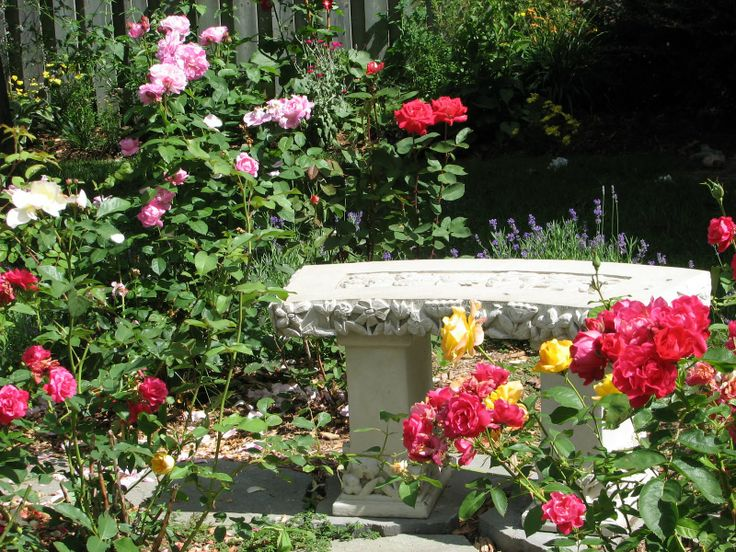 rose garden ideas pictures | If you have rose garden you can decorate it with old marble figures or ...
