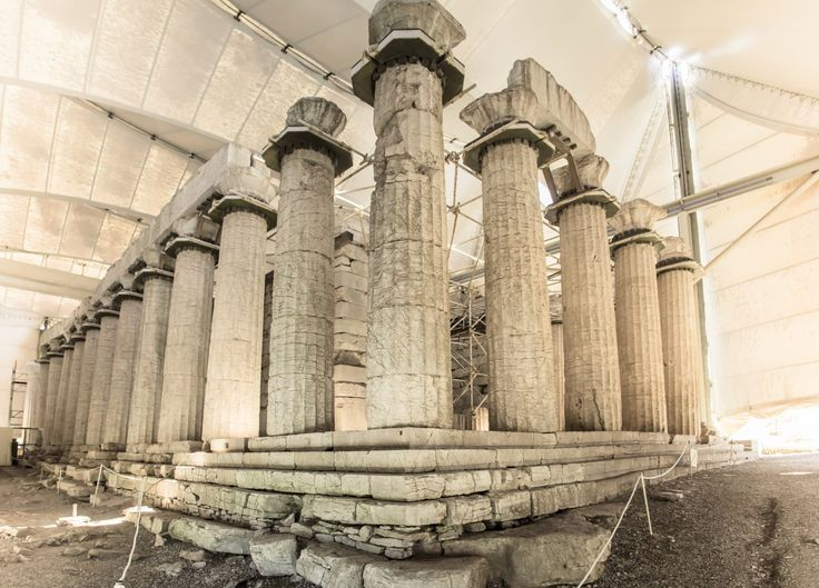 The Temple of Apollo Epicurius is set amid the rocky landscape of Bassae in the Greek region of Arcadia. Combining Archaic and Doric styles, the temple also includes the oldest example of Corinthian capitals.  Greek Architecture That Changed History Photos   Architectural Digest