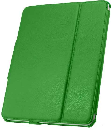 Leather Flip Book Case/Folio for Apple iPad (1st Generation) (Green)