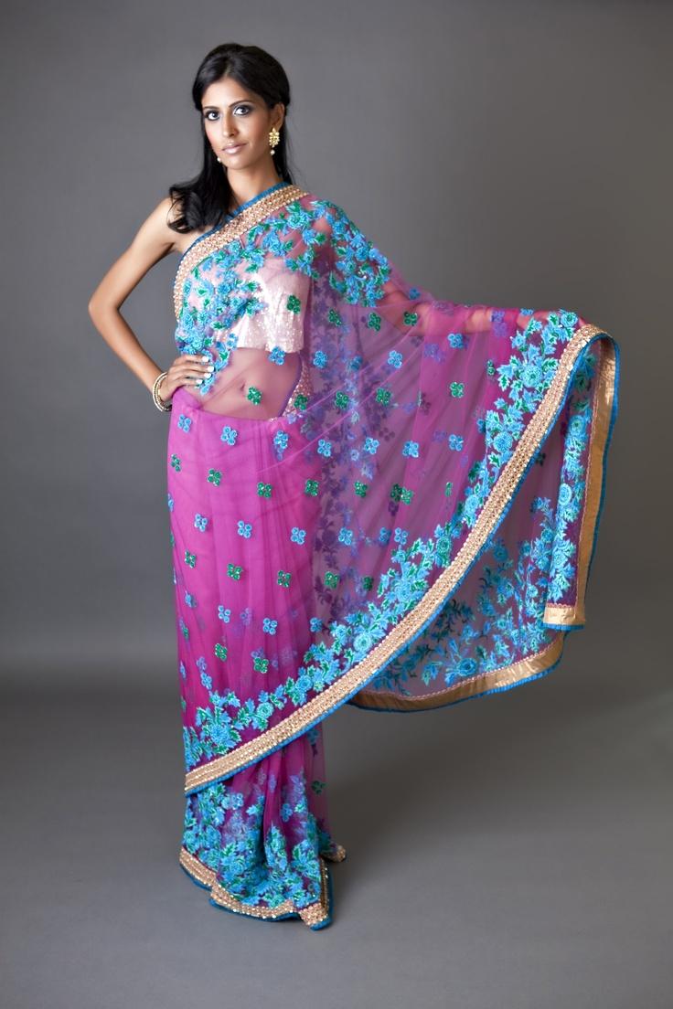 So beautiful! Indian wedding fashion, Saree designs