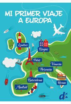 ¿Estás planificando tu primer #viaje a #Europa? Aquí te acercamos 3 rutas para ayudarte con el itinerario ;) #DespeTips