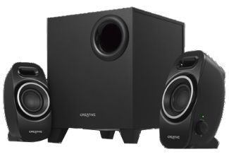 CREATIVE A250 2.1 PC-Lautsprechersystem, Lautsprecher, Schwarz