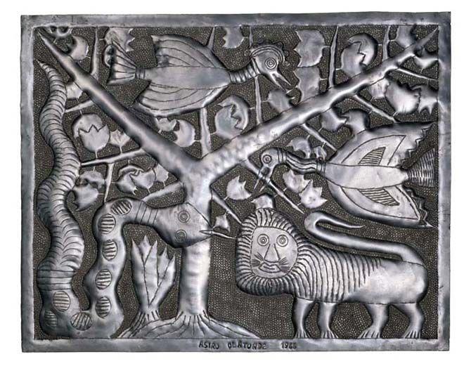 Asiru Olatunde  1918-1993, Oshogbo, Nigeria Untitled 1966 Aluminum Gift of Bernice M. Kelly, 95-7-1