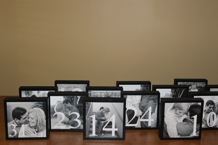 Wedding Table Numbers. This is cute! Kinda pricey though, could be a diy project for cheaper maybe