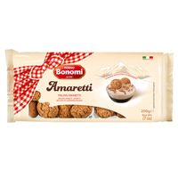 Amaretti is the Italian name for macaroons, which means little bitter things. Crisp and crunchy on the outside and soft inside, these small, domed shaped cookies originated in Venice, Italy during the Renaissance period. Amaretti cookies are made from either ground almonds or almond paste, along with sugar or egg whites and can be flavoured with chocolate or liqueurs. Traditionally served with a sweet dessert wine or liqueur, but they are also wonderful with a bowl of ice cream.