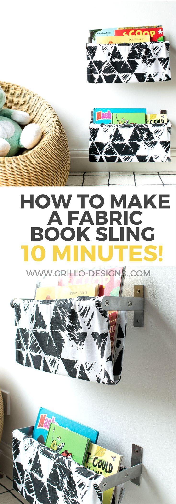 IKEA GRUNDTAL HACK: FABRIC BOOK SLING TUTORIAL