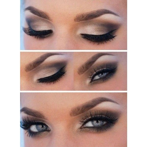 20 Amazing Makeup Tutorials for Blue Eyes ❤ liked on Polyvore featuring beauty products, makeup, eye makeup and eyes