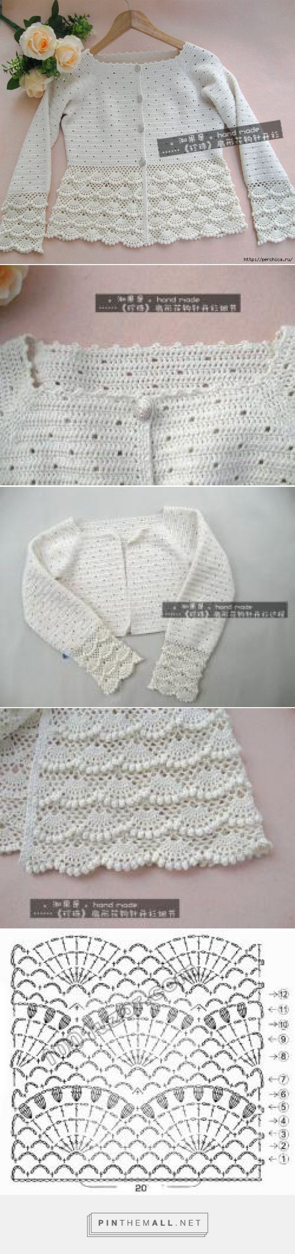 Crochet Lace Jacket ~~ http://perchica.ru/post322865017/ ~~ LiveInternet -