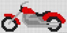 Motorcycle perler bead pattern
