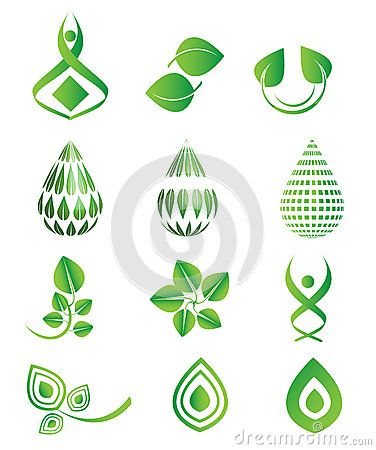 Vector Green Icons Symbol Set, Leaf, Green Drops, Environment, Natural, Organic Set - Download From Over 57 Million High Quality Stock Photos, Images, Vectors. Sign up for FREE today. Image: 89300688