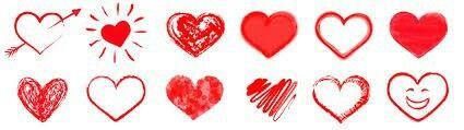 Symbole   Rote Herzen