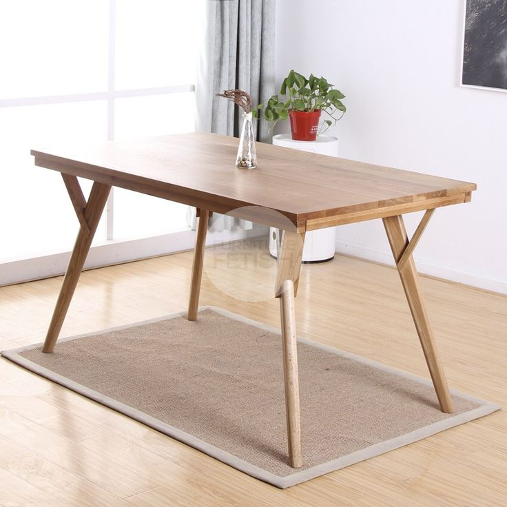 Urban Sticotti Gant Style Dining Table - Solid American Oak Natural