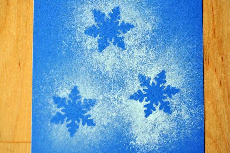 Snowflake craft/art- just need spray on snow to spray over die cut snowflakes