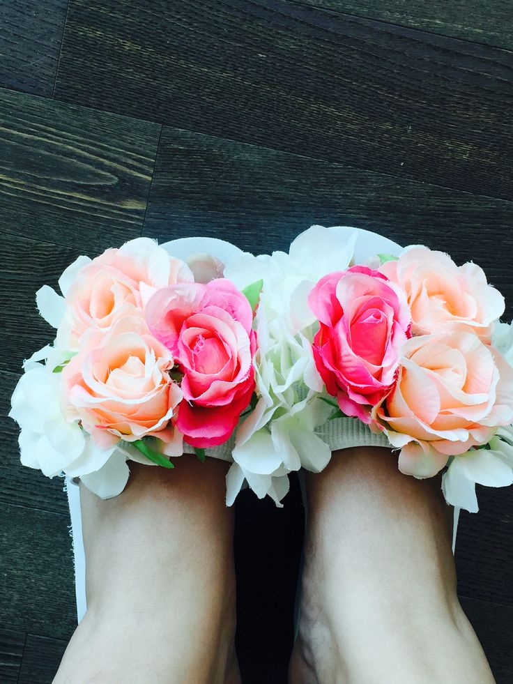 Bloom freely   Flower  Slippers  Pink  Girl Summer  Wear