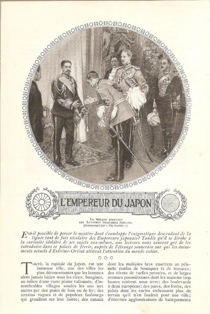 L' Empereur du Japon - - S.M. Mutsu Hito  Le Mikado -  Coupure de Presse (1904)