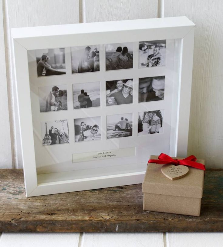 personalised 'our anniversary' photo frame by posh totty designs interiors | notonthehighstreet.com
