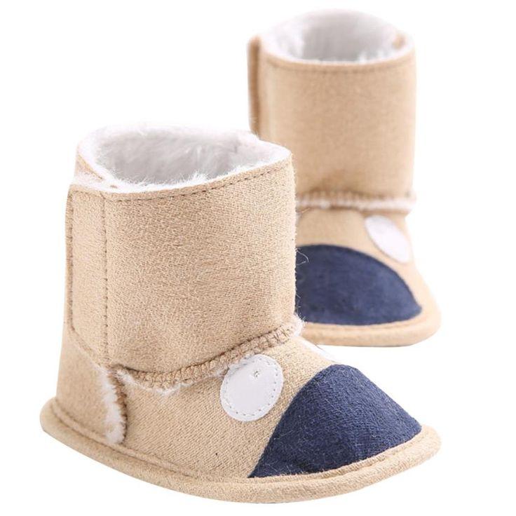 >> Click to Buy << 2016 new design Baby Leopard Snow Boots Soft Crib Shoes Toddler Boots botas de tacos de futbol tobillera Krystal #Affiliate