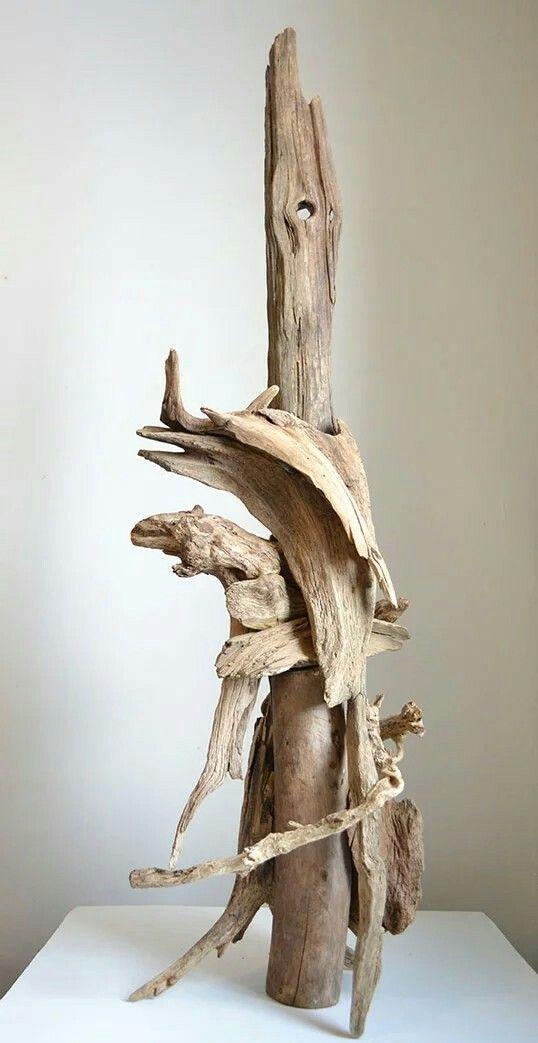 Virginie Guilbault , driftwood sculpture, 2017