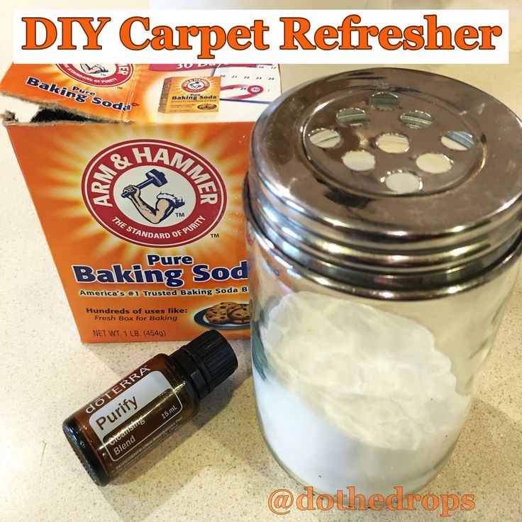 We have dogs....These dogs lay all over the rugs....The rugs then smell like dog.  I hate that! Not anymore!! I made this wonderful smelling carpet refresher! Add 6-10 drops of dōTERRA's Purify (My absolute favorite clean smell!) and Baking Soda mixed well into a glass or metal container that you can sprinkle.  Sprinkle on smelly rugs or carpets, let stand about 30min, then vacuum.  The room smells great- and guess what?! So do the rugs!  www.mydorerra.com/aprilw