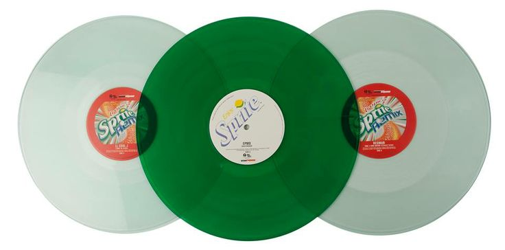 [Coke Code 315] 스프라이트 앨범? 2000년 초반, 미국의 힙합 레이블 Def Jam과의 제휴를 통해 스프라이트의 상쾌함을 담을 그린 컬러의 레코드판이 발매되었답니다! 음악 역시 스프라이트만큼 상쾌하겠죠? ^0^