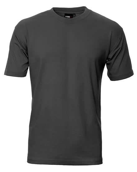 http://tskjorter.wordpress.com/2014/05/19/tskjorter/ T-skjorte Modell ID 0510 Klassisk t-skjorte med rund hals, firelags ribkant i hals og nakke-og skulderbånd. Holder fasongen vask etter vask. Minimal krymp og stort fargeutvalg. Materiale 100% bomull, 175gram Str S-4XL (sort, hvit, marine og kongeblå leveres også i str 5XL-6XL)