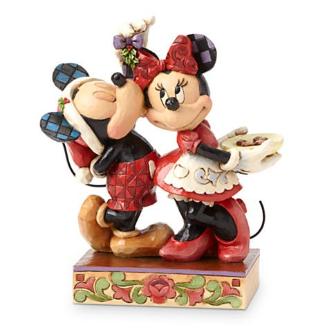 Mickey and Minnie Mouse ''Under the Mistletoe'' Figure by Jim Shore