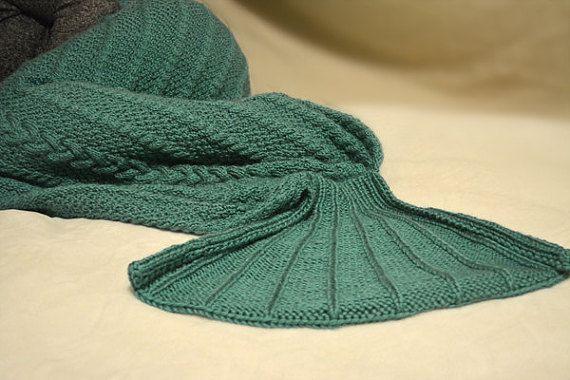 KNITTING PATTERN PDF Adult Mermaid Tail  Knit by KnotEnufKnitting