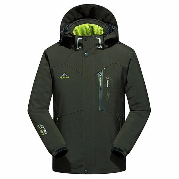 Waterproof Windproof Thick Warm Men Hooded Padded Professional Outdoor Jackets at Banggood