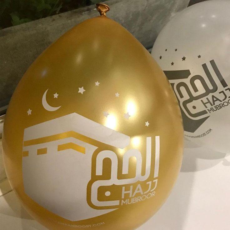 Hajj Mubroor Balloons - Helium OR Stick use