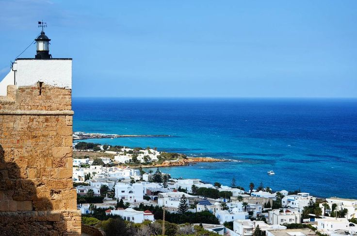 View on the Mediterranean Sea  and its beautiful colors from Kelibia Fort.