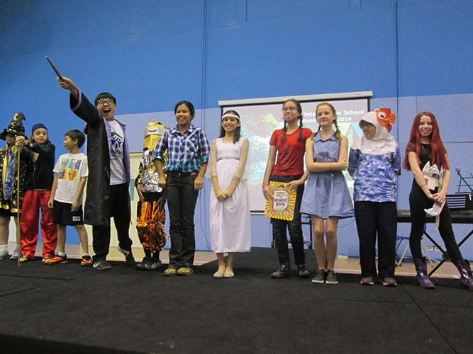 Year 6 students in their costume parade during Book Week