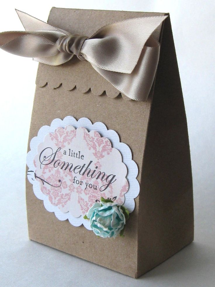 Elegant Birthday or Wedding Party Favor.  DIY bag / box parting gift.
