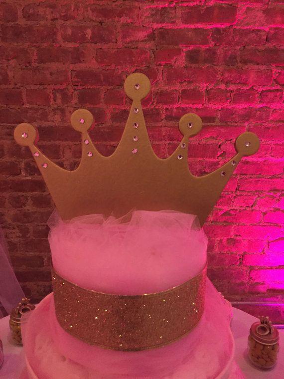 Pastel de pañal de corona de princesa por CMHandmadeBoutique