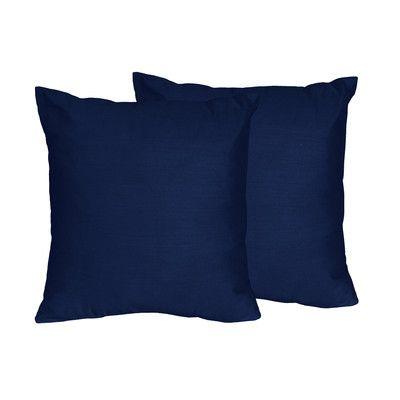 Sweet Jojo Designs Solid Navy Blue Throw Pillows & Reviews | Wayfair